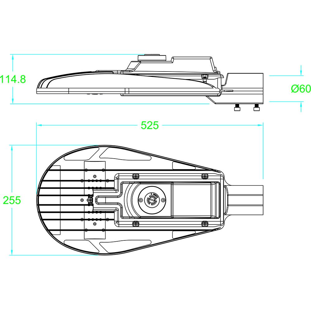 LED Street Light MLT-SL-CS Dimensional Drawing